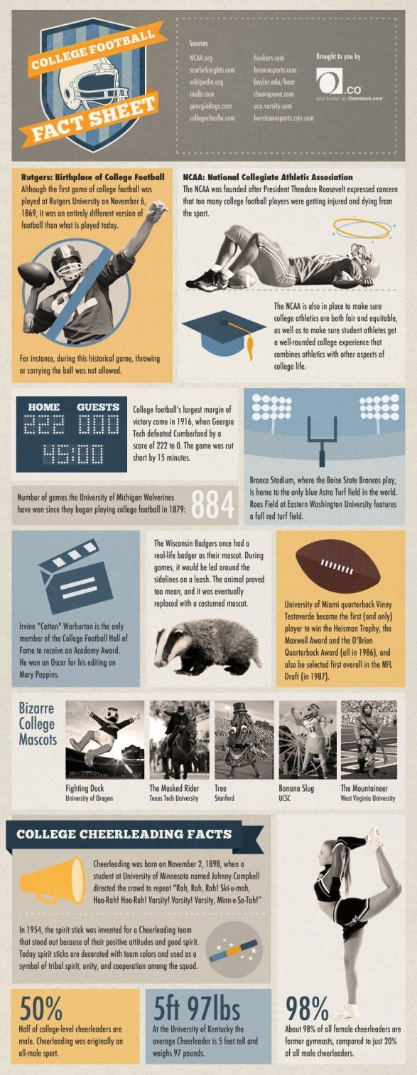College Football Fact Sheet - Wolverines, Badgers, GA Tech Jackets, Miami, Michigan, NCAA, Broncos | www.extremely-sharp.com pins | Bizarre college mascots |