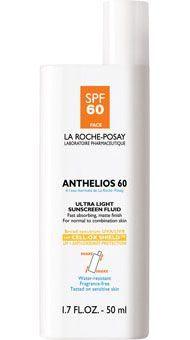 Los 10 mejores protectores solares para el cuerpo: La Roche-Posay Anthelios 60 Ultra Light Sunscreen Fluid