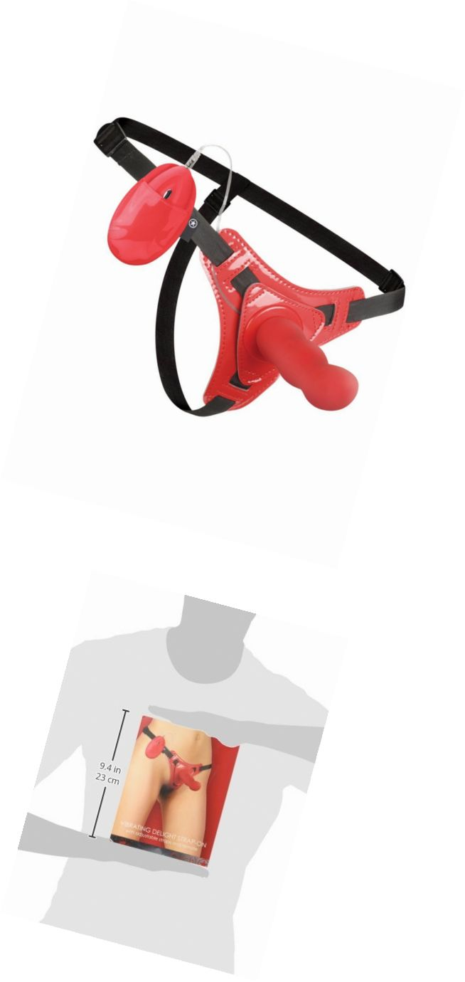 Sex Toys: Ouch! Vibrating Delight Strap-On Vibrator, Red -> BUY IT NOW ONLY: $45.7 on eBay!