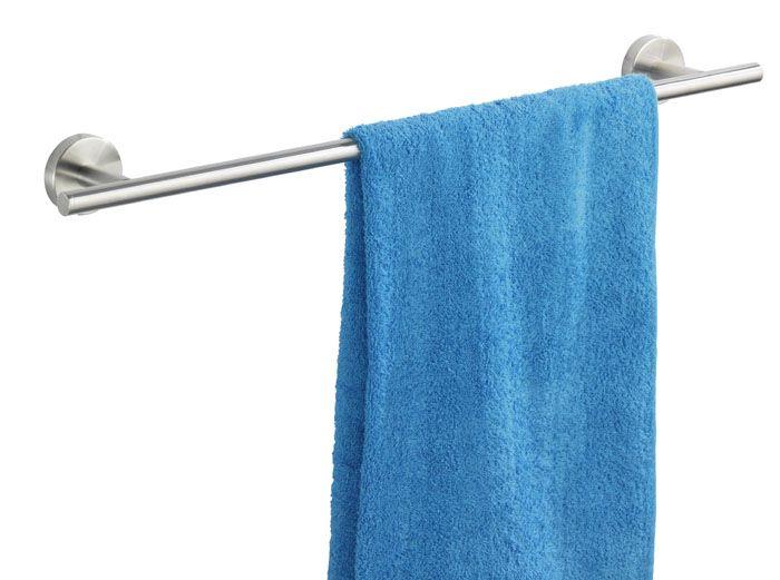 Handtuchhalter Dusche Ohne Bohren : Die Handtuchstange Uno Bosio aus rostfreien mattierten Edelstahl