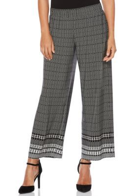 Rafaella Women's Aztec Print Pants - Black - Xl