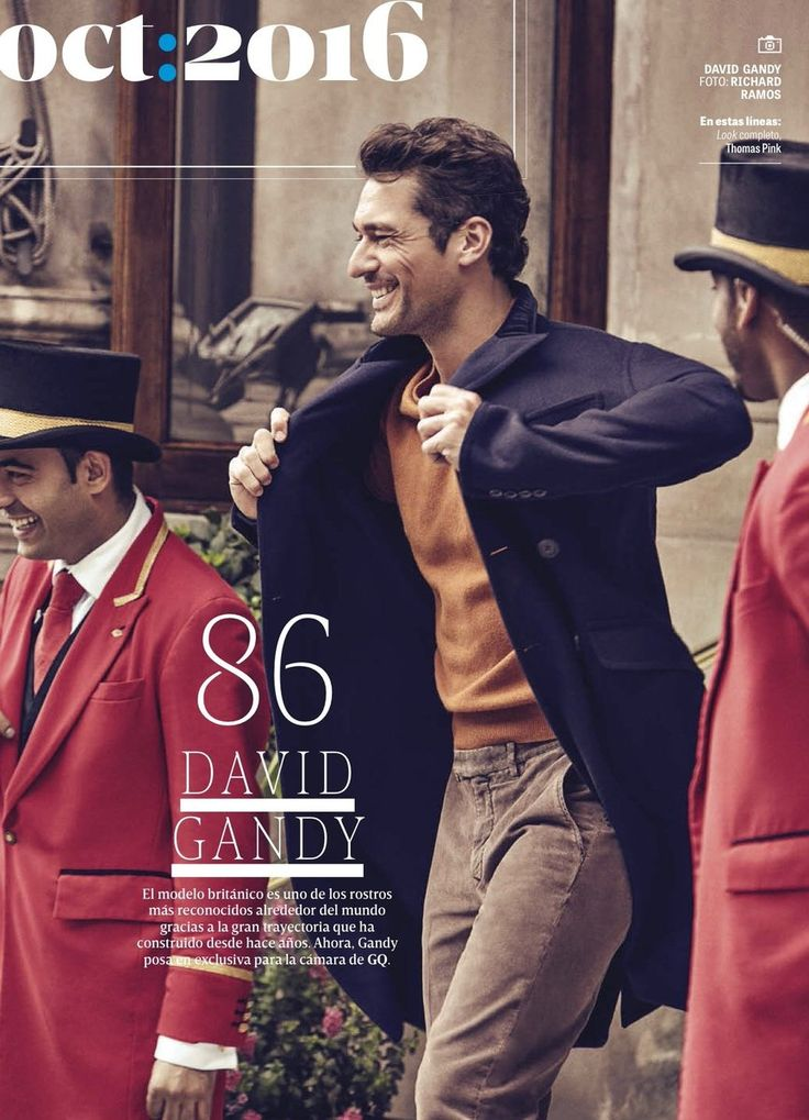 """Magazine Covers """"David Gandy for GQ Mexico - October 2016"""""""