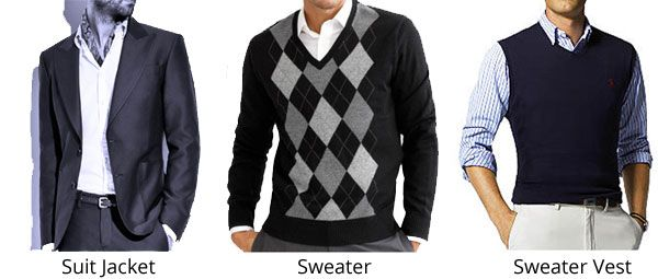 You can choose to finish off your look with a jacket or a sweater/ sweater vest over your shirt.