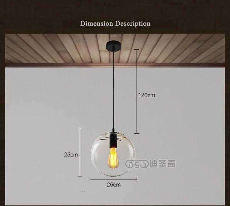 Бесплатная доставка современный краткое деревенский ресторан огни спальня стеклянный шар подвесной светильник диаметр 200 / 250 / 300 / 350 мм, принадлежащий категории Подвесные светильники и относящийся к Лампы и освещение на сайте AliExpress.com | Alibaba Group