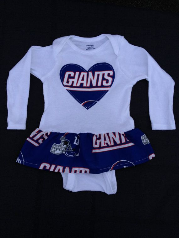 ... Ny giants baby Etsy New York Giants Girls Ruffle Onesie on Etsy 90a5177b9