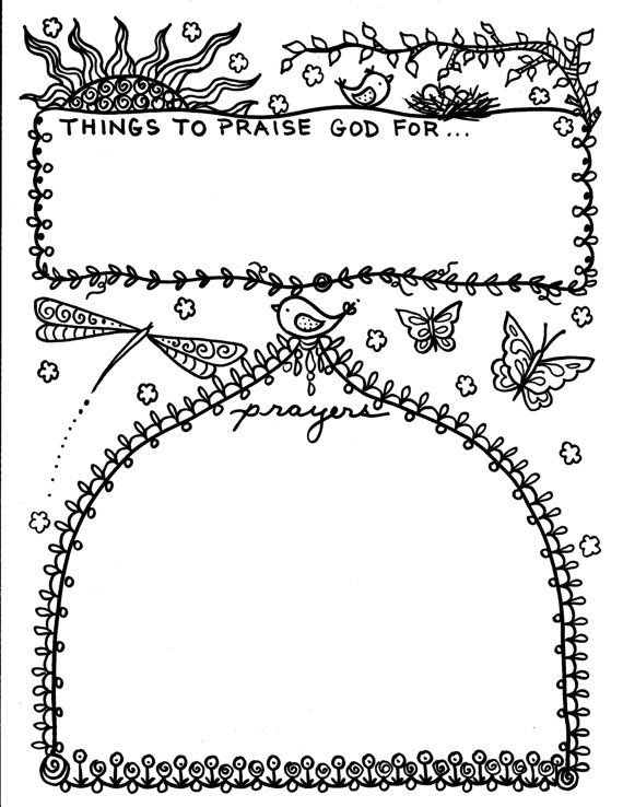 prayer journal coloring pages - photo#9