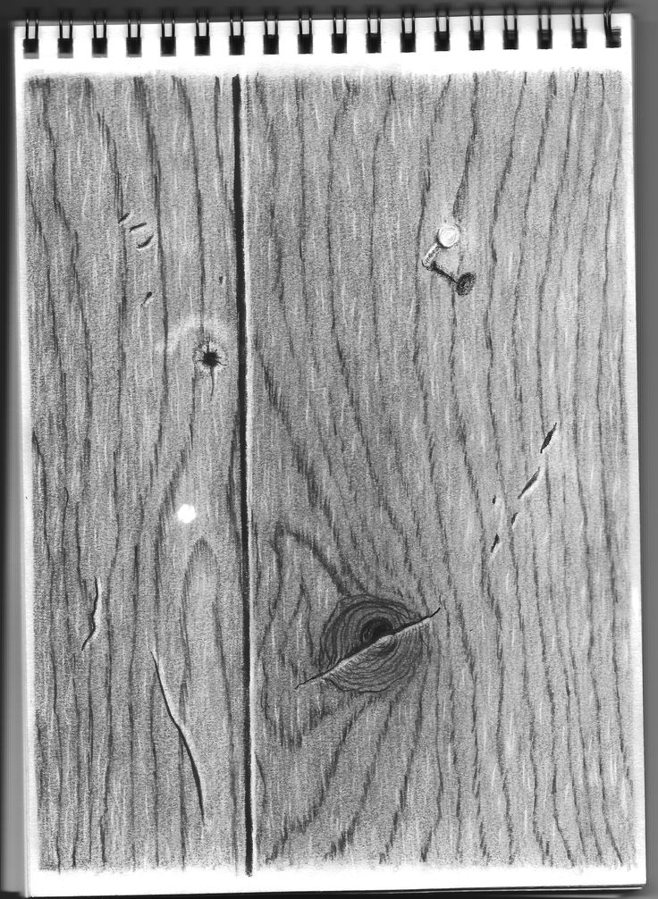 My work in progress--a realistic drawing of wood following ...