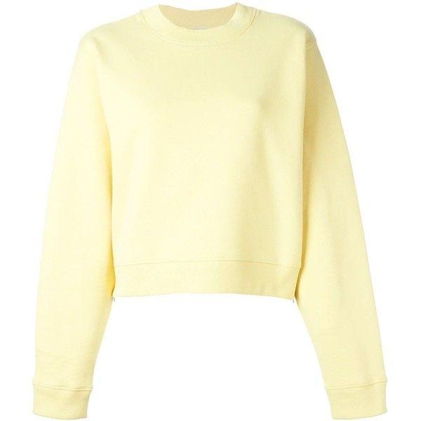 Acne Studios Bird Fi Sweatshirt (575 ILS) ❤ liked on Polyvore featuring tops, hoodies, sweatshirts, sweaters, beige sweatshirt, beige top, beige long sleeve top, long sleeve sweatshirts and acne studios