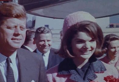John and Jackie Kennedy in Dallas, Texas, November 22, 1963.