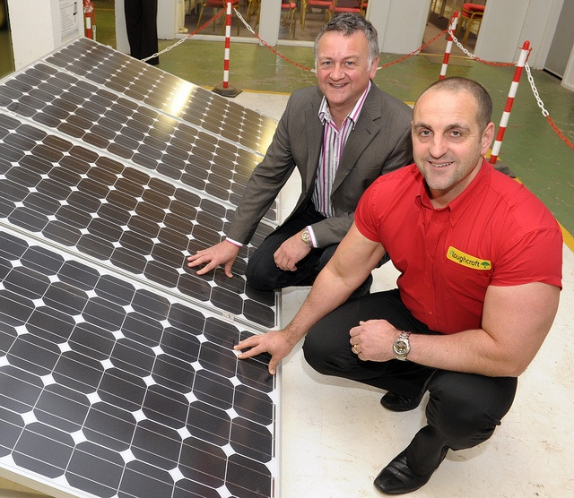 Chris Hopkins and Jon Mitchell of   Ploughcroft at Eco Roof Open Day