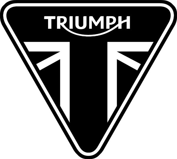 Triump Motorcycle Maintenance,... triumph logo , why did they pick an inverted triangle,... is there a meaning here.