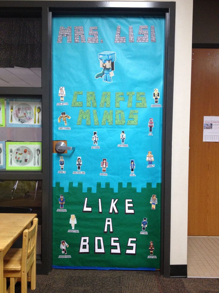 Cool Right Minecraft Classroom Teacher Door Decorations
