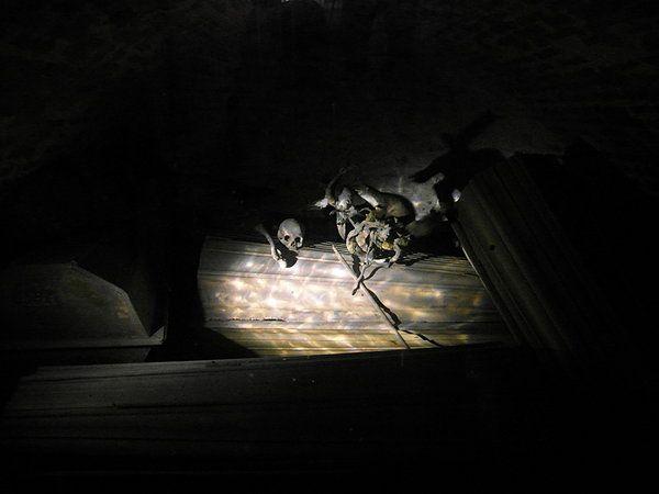 Krypta w kościele św. Mikołaja w Gniewie. The crypt in the church of St. Nicholas in Gniew.  Poland