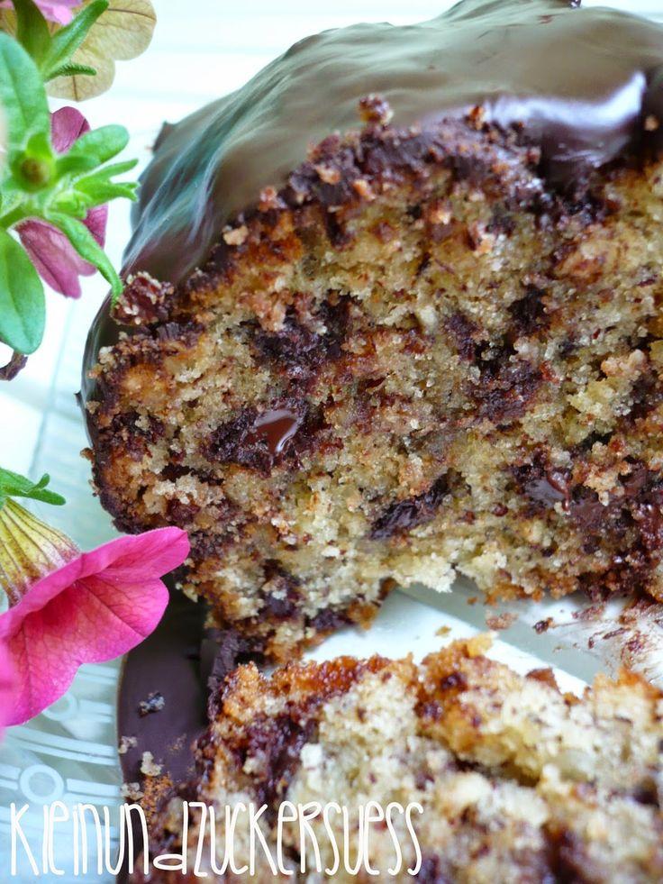 kleinundzuckersüß: Fauler Sonntag: Schoko-Nuss-Kuchen