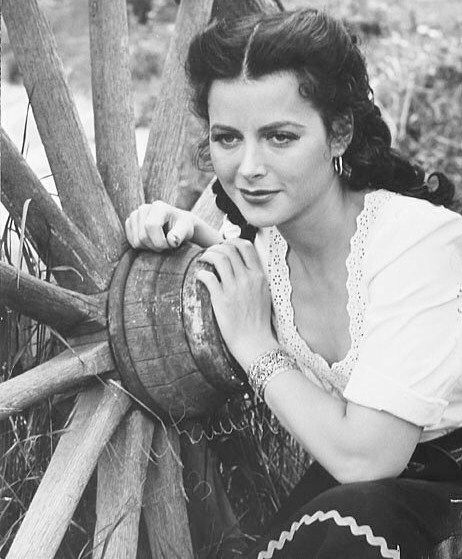 Hedy Lamarr on the set of Tortilla Flat, 1942