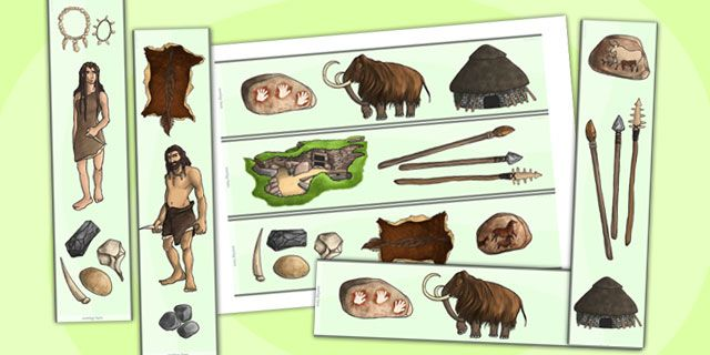 KS2 The Stone Age- The Stone Age Display Borders