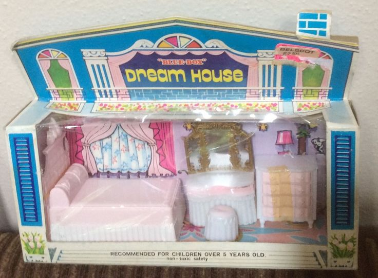 Vintage Blue Box Dream House Furniture, Bedroom, Made In Hong Kong, Orig. Box | eBay