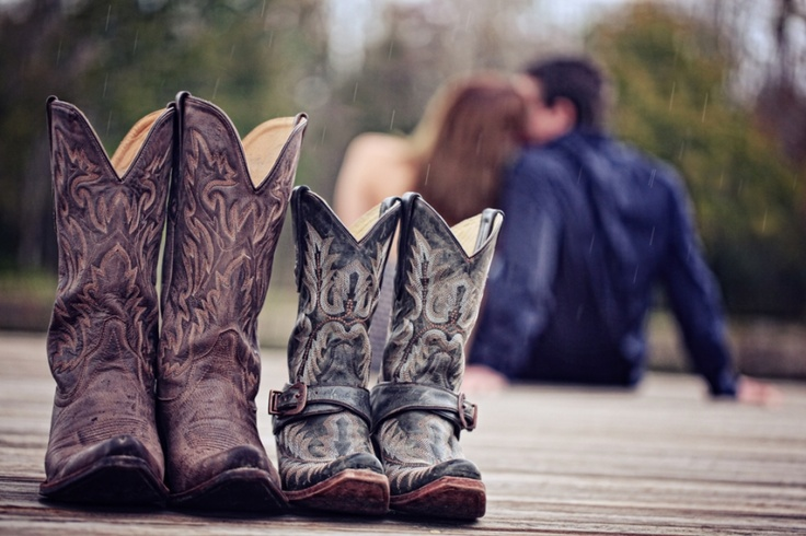 country engagement photo ... maybe have a slightly different angle with them standing together farther in the background.