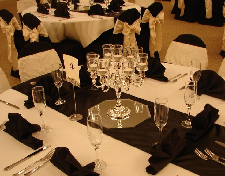 Silver Wedding Decorations For Tables
