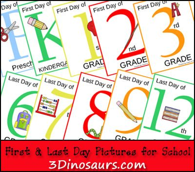 FREE First & Last Day of School Pictures Printables