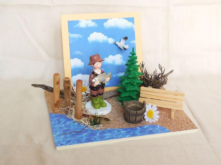 Eine originelle Verpackung zum Verschenken von Geld oder Gutscheinen zum Thema angeln, Ausflug in die Natur, fischen, Angel-Gutschein, Urlaub am See oder Angel-Zubehör... - einfach einen lieben...