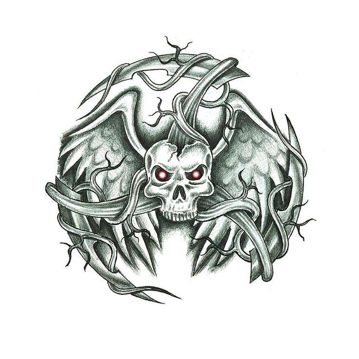 17 Best Ideas About Evil Skull Tattoo 2017 On Pinterest
