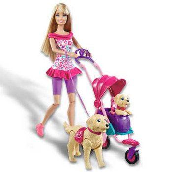 poussette pour chien - Mattel Barbie en balade avec ses chiens T7197 - Achat / Vente Univers Poupée sur maginea.com