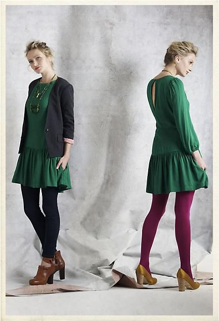 from Anthropologie ~ drop-waist dresses (Bonnie & Clyde shoot) (not the blazer!)