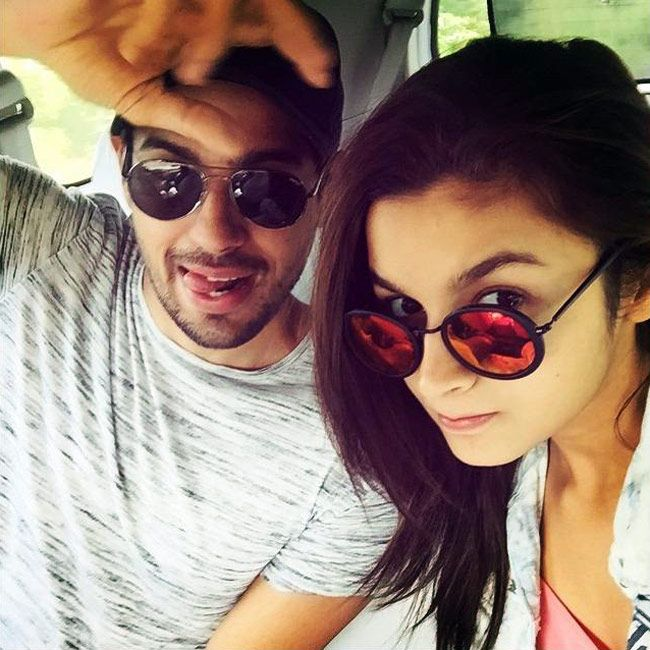 Alia Bhatt and Sidharth Malhotra in Coonoor for 'Kapoor and Sons'. #Selfie #Instagram
