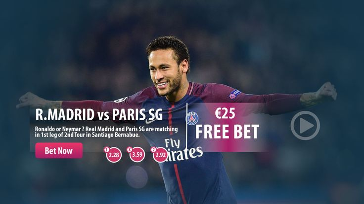 22:45 #RealMadrid vs #ParisSG  Place your bet with the highest odds, win more in Parasino !  #UEFA #ChampionsLeague #CR7 #Ronaldo #Neymar #WednesdayWisdom #bonus #Parasino  https://www.parasino16.com/en/sportsv2/#prematch