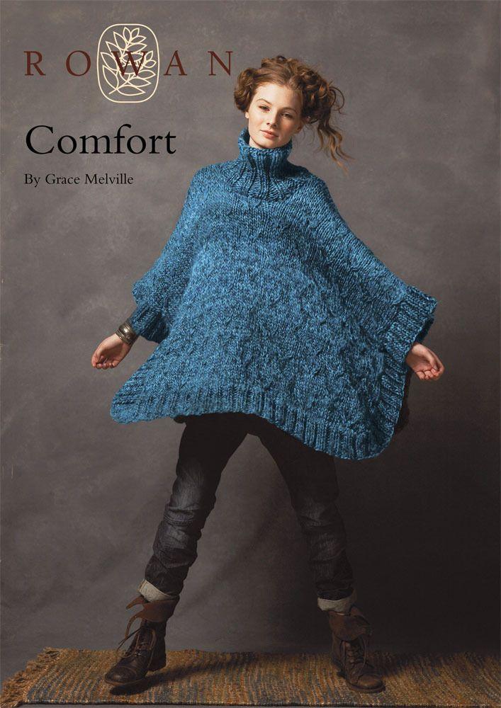 Comfort Collared Cape in Rowan Big Wool free pattern
