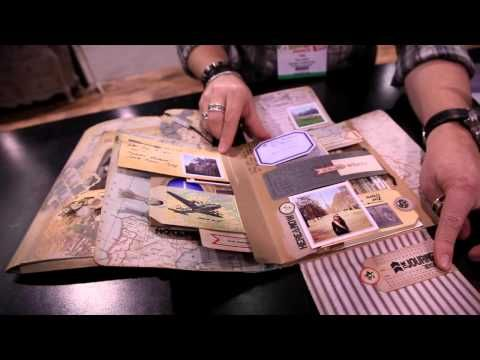 gold heart jewelry Tim Holtz   Idea ology Collection Folios   YouTube  Great  base for an interactive book  Lots of jumping off points