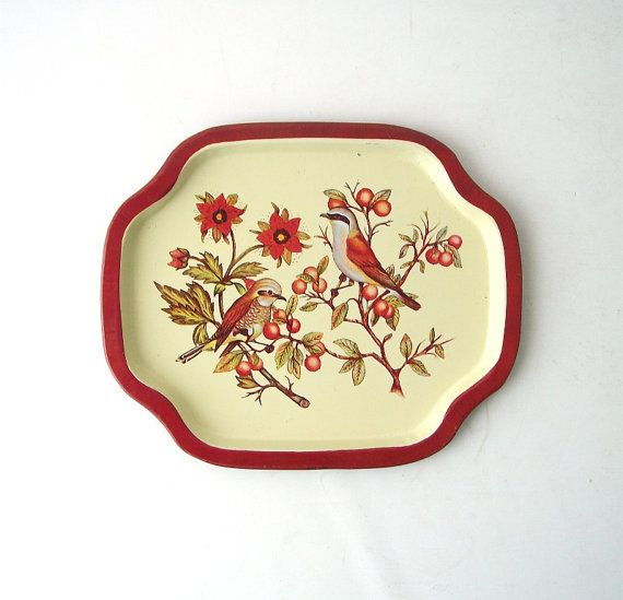 Vintage orioles tray small metal tin decorative home decor ...