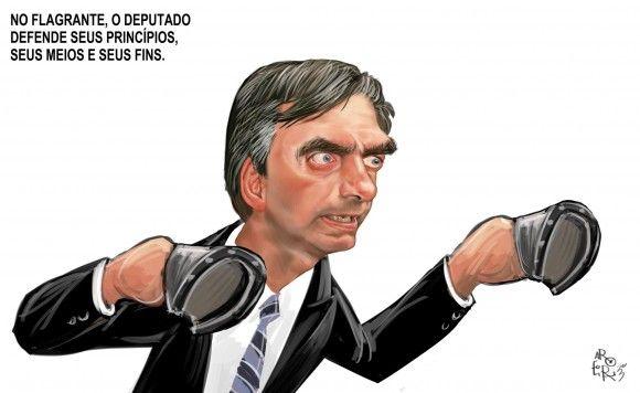 Bolsonaro agride senador Randolfe na visita à antiga sede do Doi-Codi