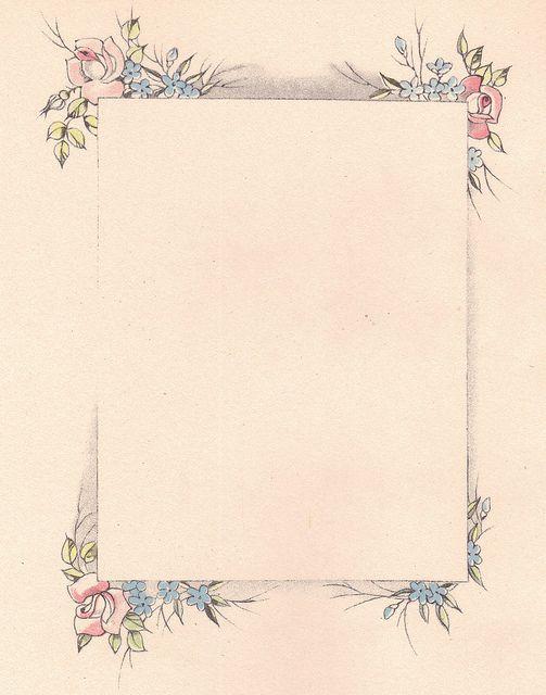 Vintage Rectangular Floral Frame ~ katinthecupboard, via Flickr