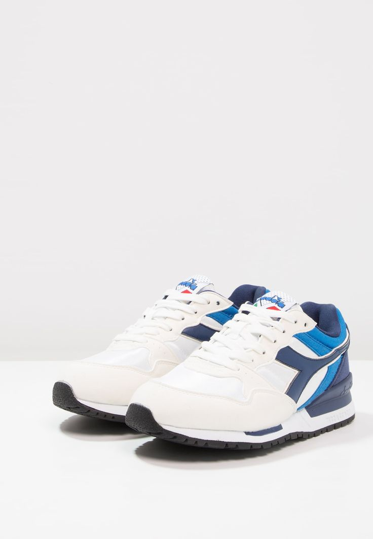 Diadora INTREPID NYL - Matalavartiset tennarit - white/estate blue/skydiver - Zalando.fi