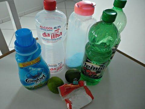 FAXINA: Misturas caseiras que eu uso na limpeza - YouTube