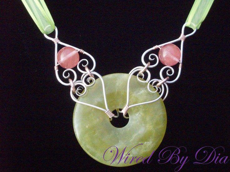 .Wire Jewelry, Gemstones Donuts, Wire Wrap, Wire Work, Donuts Design, Ideas Hmmm, Donuts Beads, Cherries Limeade, Jewelry Ideas