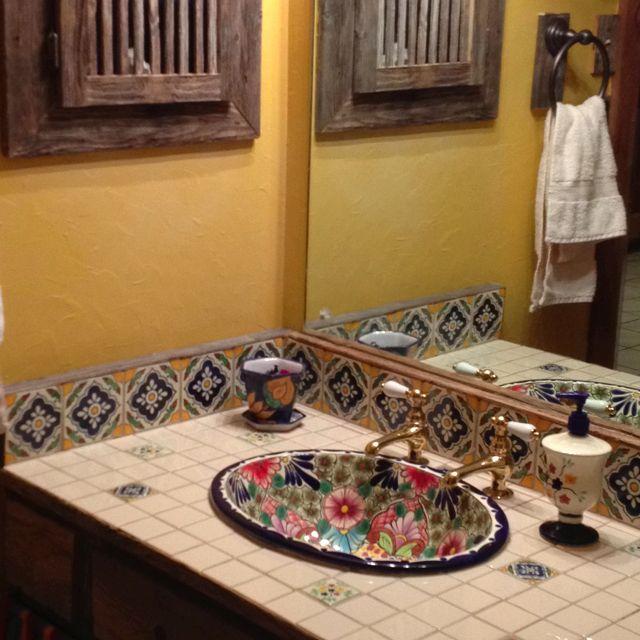Mexican Tile Bathroom Home Design Ideas Pictures Remodel: 88 Best Images About Talavera Tile Bathroom Ideas On Pinterest