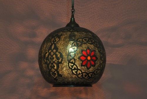 Moroccan Ceiling Light Fixture Brass Pendant Hanging Lamp | eBay