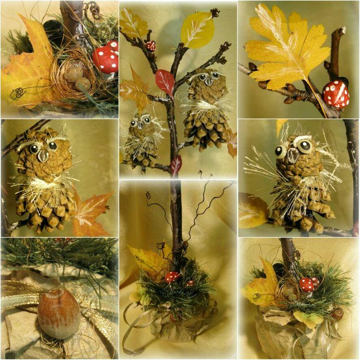 """Осенняя поделка из природных материалов ,,Осенняя полянка""""(Autumn handmade)"""