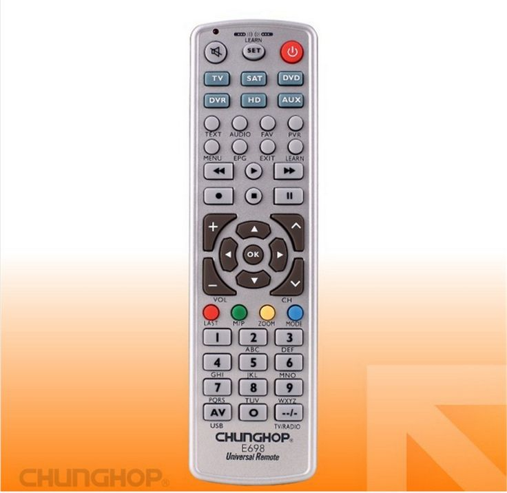 1PCS Chunghop E698 2AAA Combinational remote control learn remote for TV SAT DVD CBL DVB-T AUX  CE Smart TV  3D