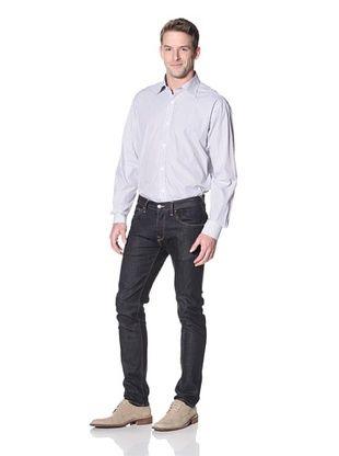 Hart Schaffner Marx Men's Striped Spread Collar Dress Shirt