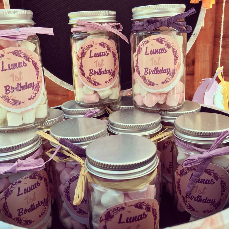Really pleased with the labels I designed for these sweetie jars! #Boho