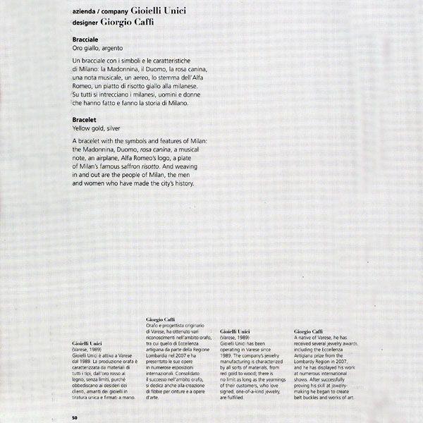 Bracciale Lumbard - Gioielli Milano - Anno 2011