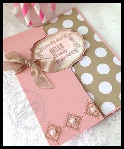 Hello Lovely Labels Card - www.SimplySimpleStamping.com