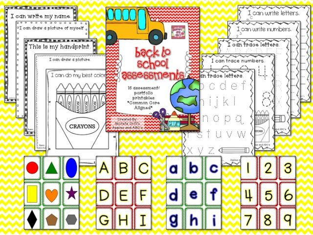 Apples and ABC's: Beginning of the Year Kindergarten Assessments