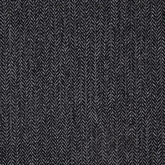 Black Gray Heavyweight Herringbone Tweed Herringbone Tweed Herringbone Tweed