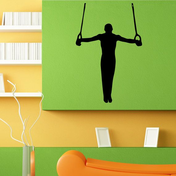Gymnaste athlète olympique Sport mur autocollant par DecalTrend
