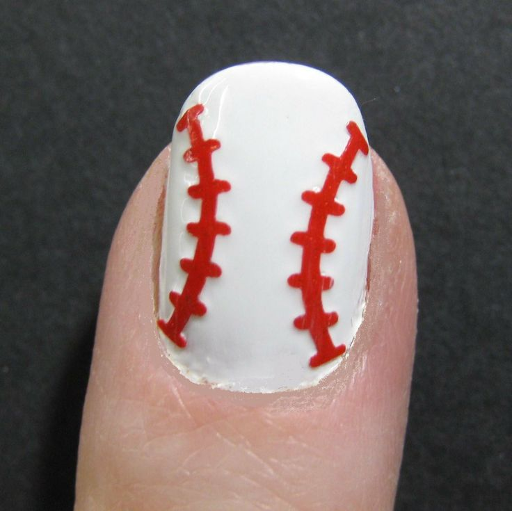 Baseball / Softball Toe Nail / Finger Nail Art By